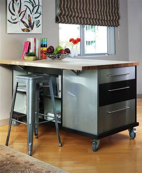 Mobile Kitchen Island Table Choose Furniture On Wheels If You Want Mobility