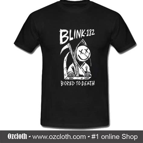 Kaos Blink 182 Dtg Print blink 182 bored to t shirt ozcloth