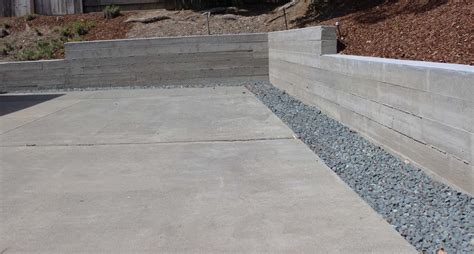 board formed concrete retaining wall yelp