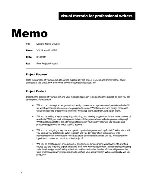 memo format proposal exle best photos of project proposal memo template business