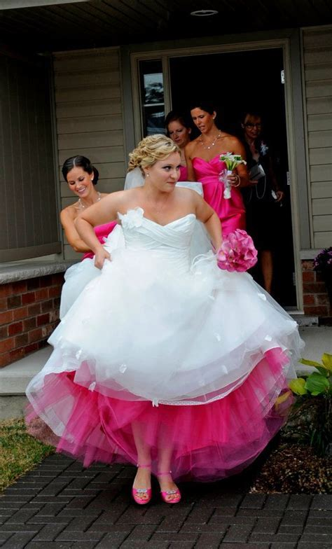 Colored tulle petticoat under your dress to match your