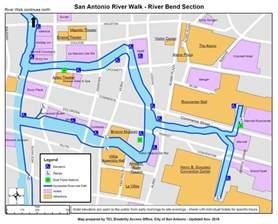 san antonio riverwalk map information on disability access on the san antonio riverwalk