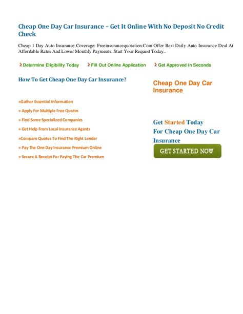 Cheap Car Insurance 1 Day by Cheap One Day Car Insurance Get It With No