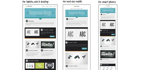responsive web design column layout 30 free responsive email and newsletter templates