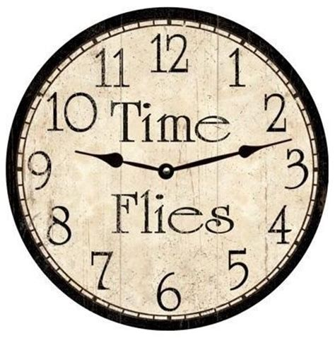Time Sure Flies With These Clocks by Time Flies Miniature Printables Clock