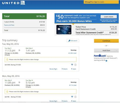 united airlines booking 177 197 chicago to from portland ore nonstop r t