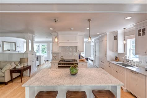 carrara marble kitchen island honed carrara marble counter tops and island contemporary kitchen new york by fordham