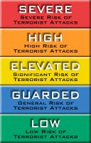 terror alert colors us government to replace color coded terror alert system