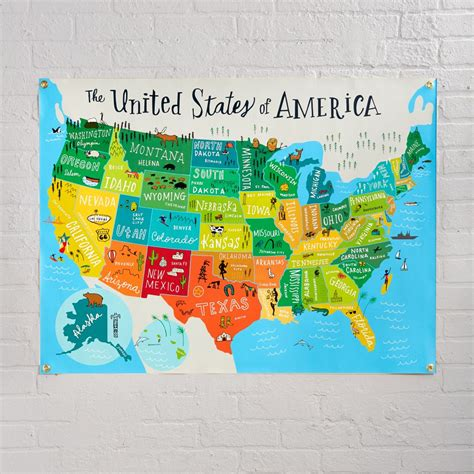 united states wall maps united states of america banner the land of nod