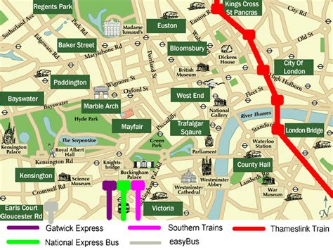 thameslink to gatwick london gatwick airport to from central london train details