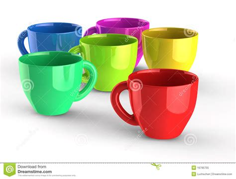 color cup color cups stock illustration image of coffee cups