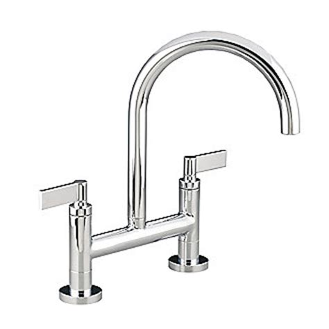 kallista one deck mounted bridge kitchen faucet lever