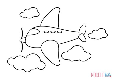 airplane coloring pages for preschool airplane coloring picture for kids airplane coloring