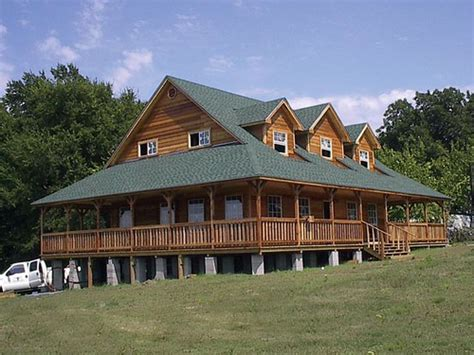 story ranch cabin options shown full wrap