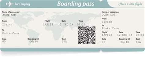 airline flight ticket vector stock vector illustration