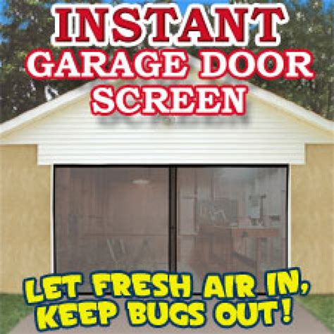 How To Keep Flies Out Of Garage by Instant Garage Door Screen The Official Asseenontv Shop