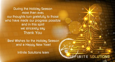 best wishes of the season infinite solutions best wishes for season
