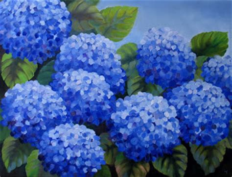 nel s everyday painting lavender hydrangea sold nel s everyday painting large hydrangea painting sold