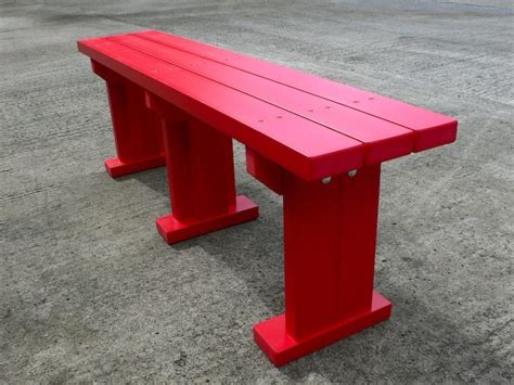 plastic benches derwent seat bench recycled plastic wood trade