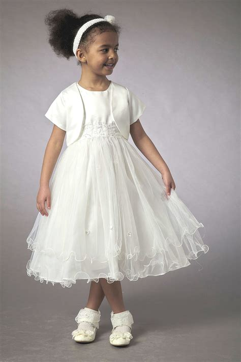 couche tot couche tot dress with matching jacket white ivory