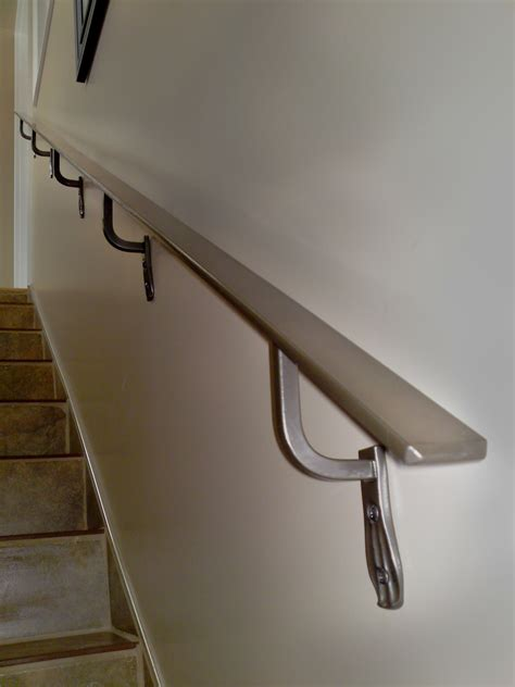 Wall Banister by Stair Handrail Wall Mounted Safety Stair Handrail Ideas
