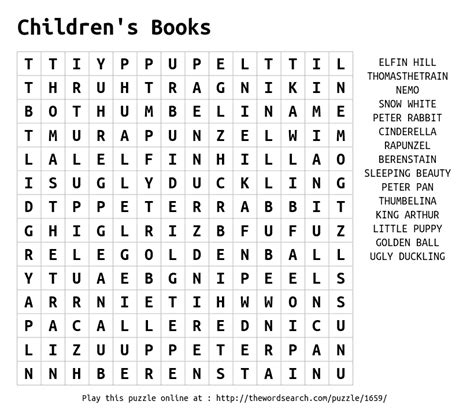 Search Book Word Search On Children S Books