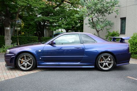 purple nissan nissan skyline gtr r34 for sale midnight purple rightdrive