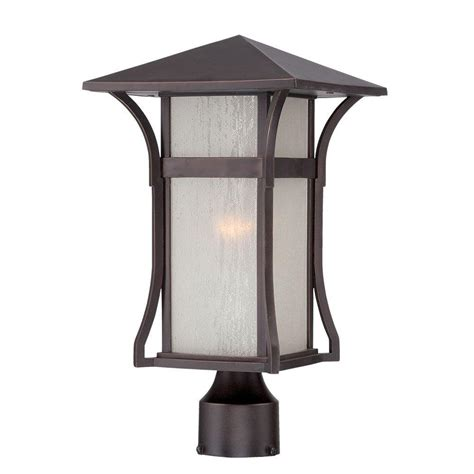 Home Depot Outdoor Lights Acclaim Lighting Tahiti Collection 1 Light Outdoor Architectural Bronze Post Lantern 96027abz