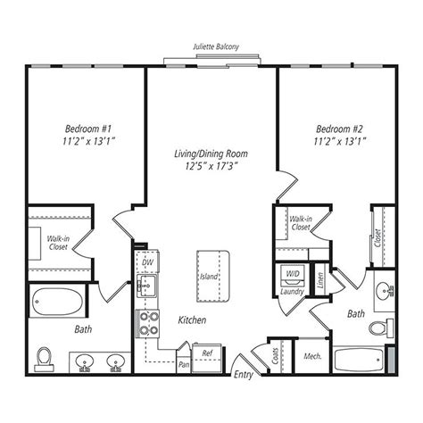simple two bedroom house plan small house floor plans with