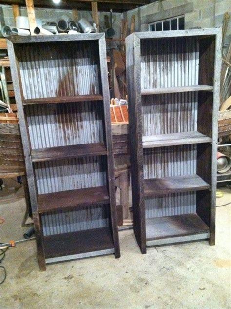 corrugated metal  barn wood shelf plans revival woodworks