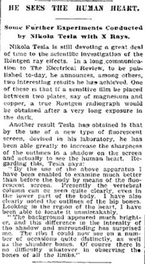 Nikola Tesla Article An Engineer S Aspect Nikola Tesla 7 Articles From