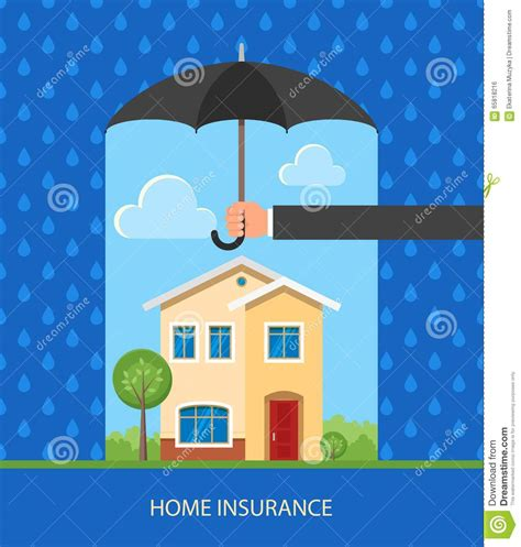 home protect house insurance home protection plan concept vector illustration in flat design hand holding