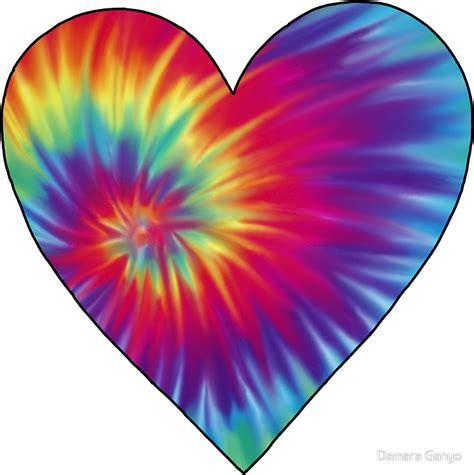 design love fest tie dye quot tie dye heart quot stickers by damara ganyo redbubble
