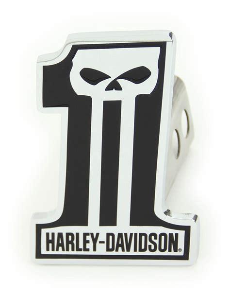 harley davidson number one skull harley davidson 2 quot trailer hitch receiver cover number 1