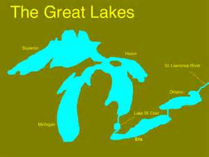 map of us with great lakes labeled p s 119 amersfort school of social awareness 187 great