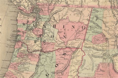 map of oregon 1800s of washington libraries digital collections