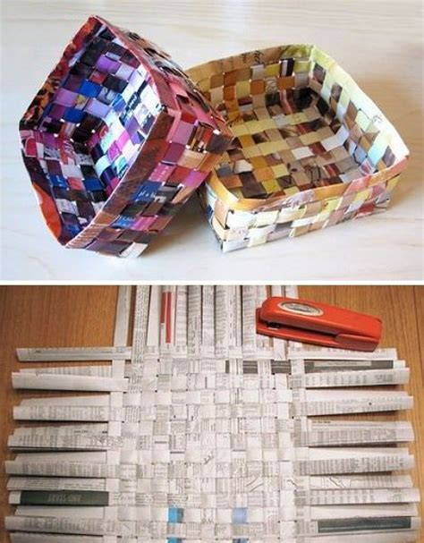 Recycled Paper Crafts For - best 20 recycled magazine crafts ideas on