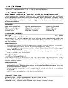 banking executive manager resume template free resume