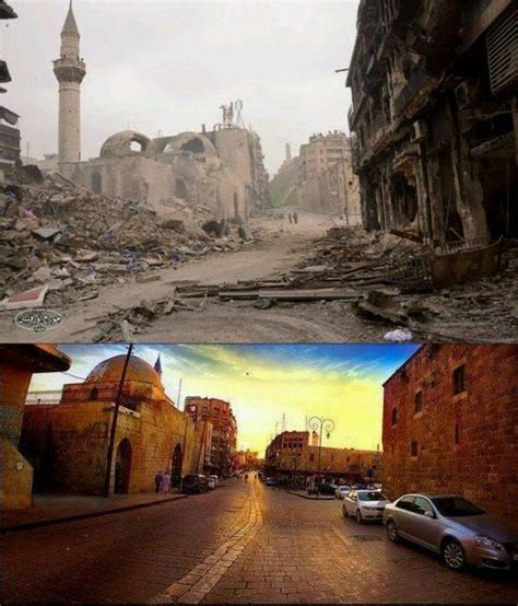 syria before and after aleppo syria before and after to become a quot ruinous