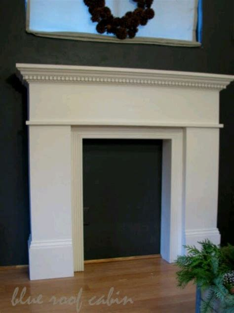 for building a faux fireplace mantel http