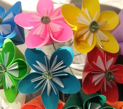 Origami Flower Arrangement - rainbow origami flower bouquet aftcra