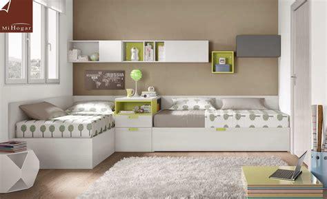 habitaciones con dos camas ideas para habitaciones juveniles matrimoniales 2018