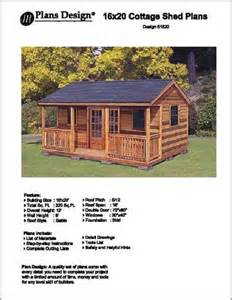 16 x 20 cottage shed with porch project plans design