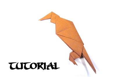 3d origami hawk tutorial origami parrot hawk vulture tutorial traditional bird