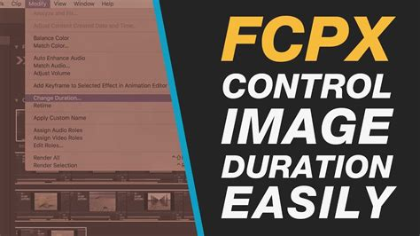 final cut pro change duration final cut pro x changing controlling the default