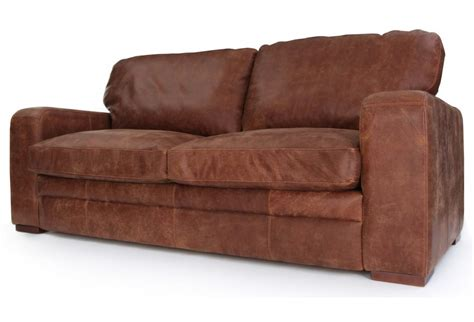 rustic leather couch urbanite rustic leather large 4 seater sofa bed from old