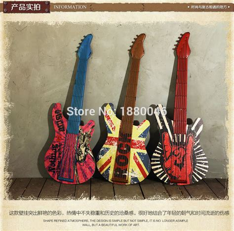 iron wall mural wall sticker musical artistic wrought iron guitar wall decor iron wall mural wall decoration