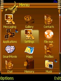 nokia 6300 themes clock animated download golden clock nokia theme mobile toones