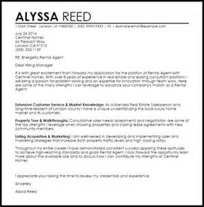 rental cover letter template rental cover letter sle livecareer