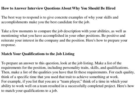 why should we hire you essay sle why should we hire you best answer